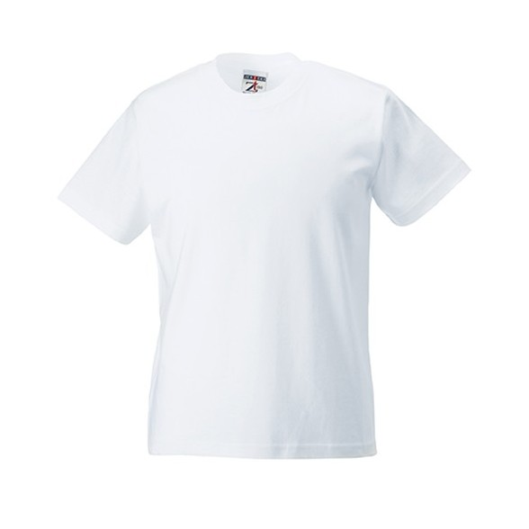 Camiseta publicidad Infantil Clásica 180 blanca / Camisetas Russell