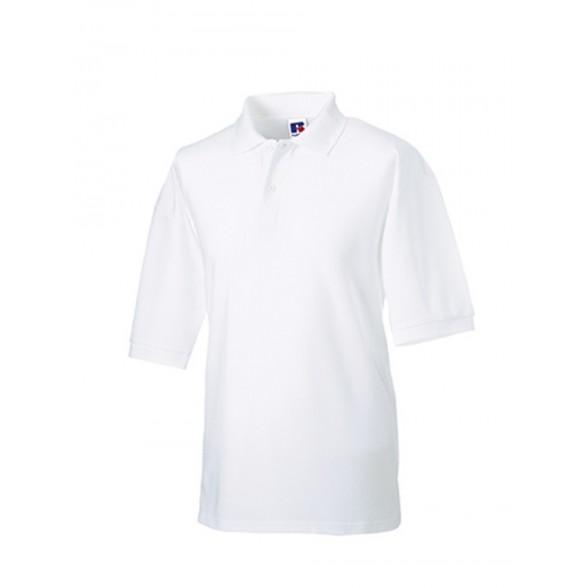 Polo para bordar Clásico blanco Russell / Polos Corporativos Personalizados