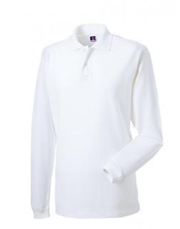 Polos para bordar de algodón Blanco manga larga / Polos Corporativos