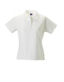 Polos para bordar blanco Russell de mujer / Polos para Empresas