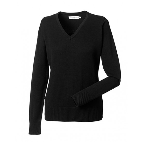 Jersey de Trabajo Cuello Pico Mujer / Jersey corporativos personalizados