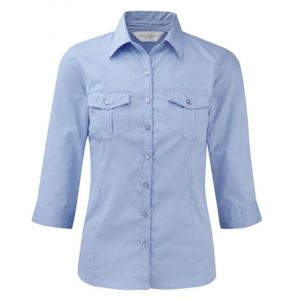Camisas Corporativa de Mujer de Manga Vuelta / Camisas Bordadas