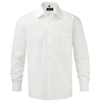 Camisa corporativa Popelín Manga Larga Algodón Puro
