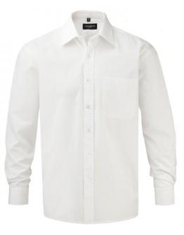 Camisa corporativa de Hombre de Popelín Manga Larga Fácil Cuidado de Algodón Puro