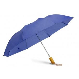 Paraguas automático plegable con mango madera