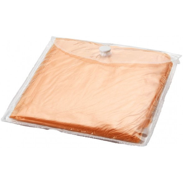 Poncho impermeable desechable con bolsa.
