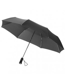 Paraguas publicitario con luz 3 secciones.