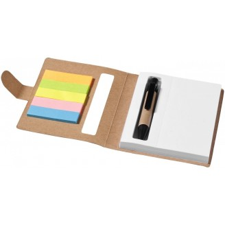 Libreta de notas adhesivas con bolígrafo