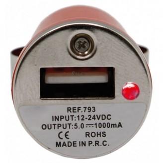 Cargador de Coche USB 1000 mAh