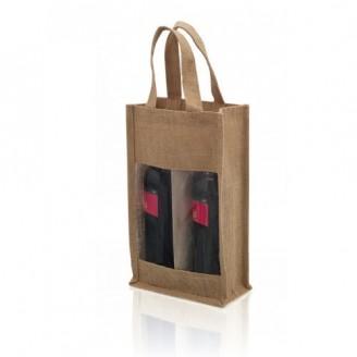 Bolsa de vino yute para personalizar
