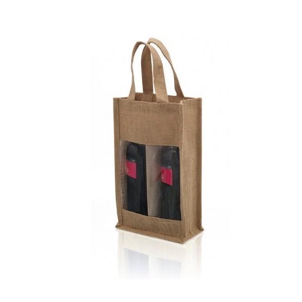 Bolsa regalo para botellas de yute / Bolsas Personalizadas de botellas