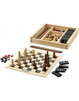Juego publicitario Backgamon ajedrez damas domino y mikado.