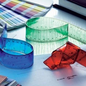Regla publicitaria de plástico flexible
