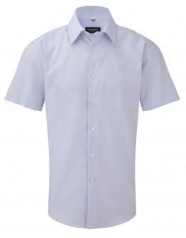 Camisa corporativa Entallada de Hombre de Tejido Oxford de Fácil Cuidado y Manga Corta