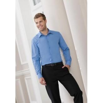 Camisa de trabajo Entallada de Hombre de Popelín / Camisas Corporativas