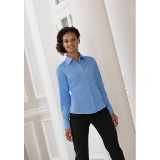 Camisa de trabajo entallada de Mujer de Popelín