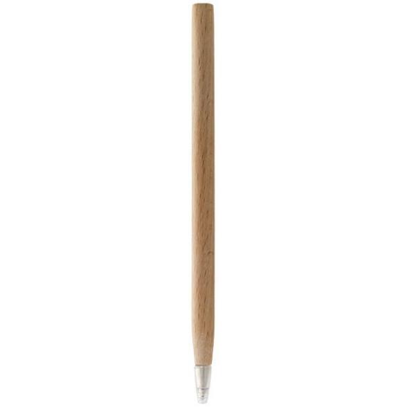 Bolígrafo de madera publicitario con capuchón