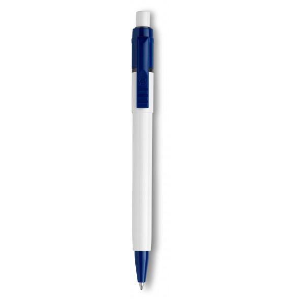 Bolígrafo publicitario plástico Baron White / Bolígrafos grabados