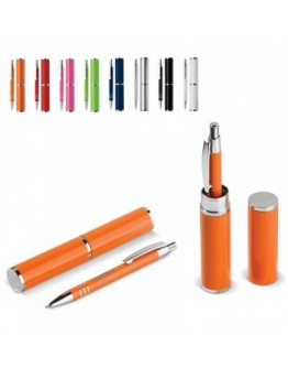 Bolígrafos publicitarios aluminio con estuche Argo