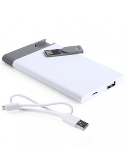 Power Bank 2500 mAh. con USB 8GB. Cable Incluido