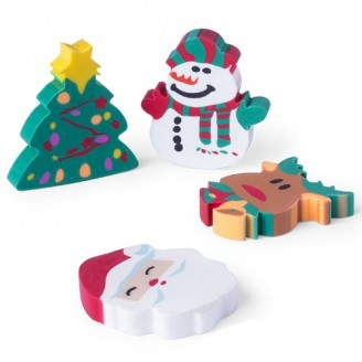 Set gomas motivos navideños. Regalos Publicitarios  motivos navideños