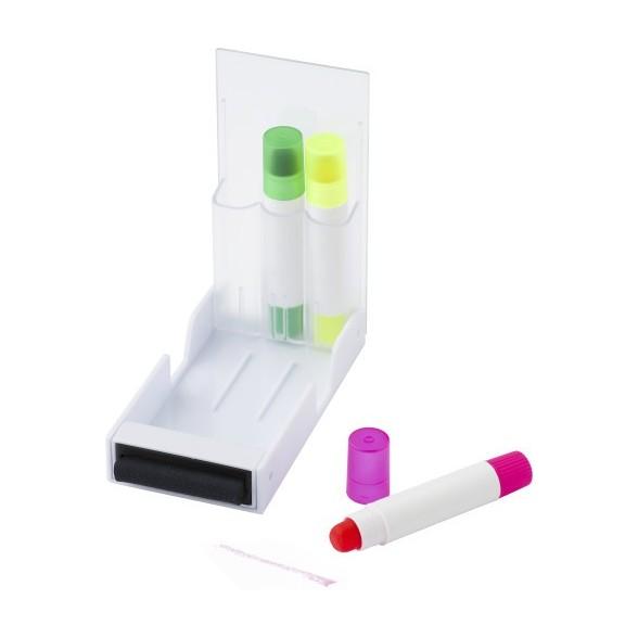 3 Marcadores fluorescentes con estuche Ready