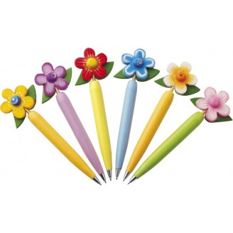 Bolígrafos originales de madera Flor