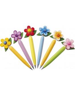 Bolígrafos originales de madera Flor. Bolígrafos para regalar