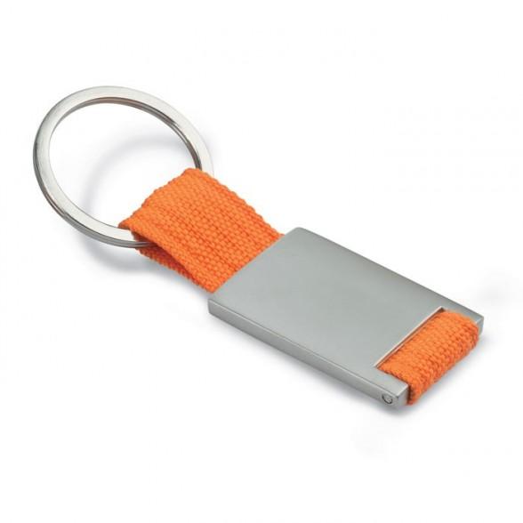 Llavero publicitario combinado con cinta poliéster