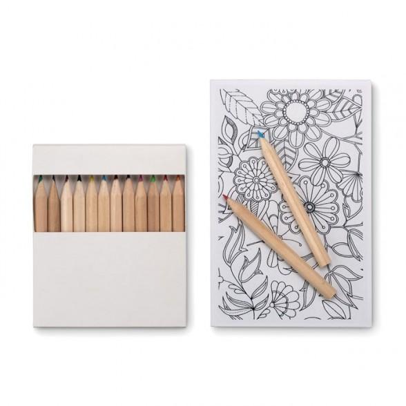 Kit de dibujo con lápices y plantillas