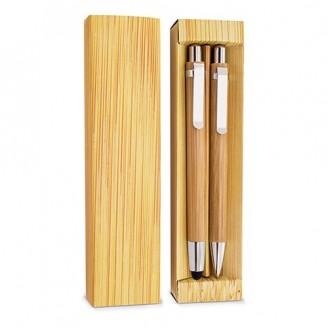 Set de boligrafo y portaminas bambú Lea
