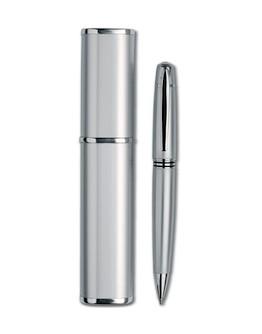 Bolígrafo metálico con estuche tubular Max