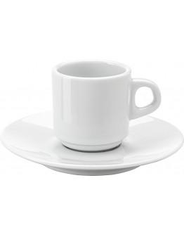 Taza y Plato de Café Personalizados con tu Logo Dom / Tazas Publicitarias