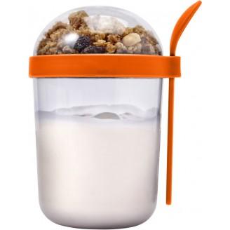Vaso personalizado para desayuno con cuchara