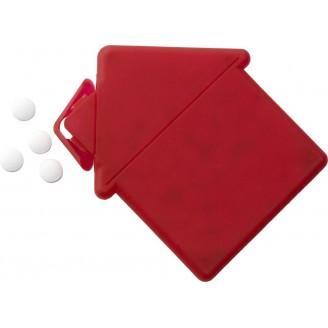 Expendedor de pastilla menta con forma de casa
