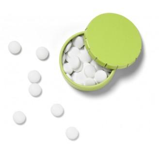 Cajita de lata con pastillas de menta sin azúcar