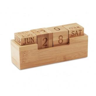 Calendario perpetuo de bambú Karu
