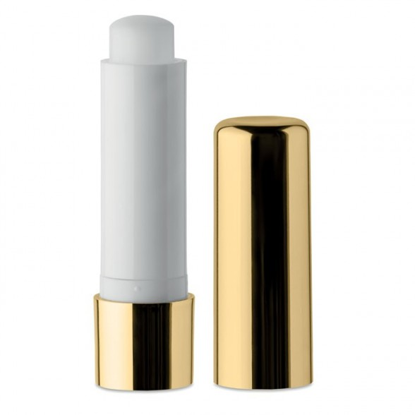 Balsamo labial natural con acabado metálico