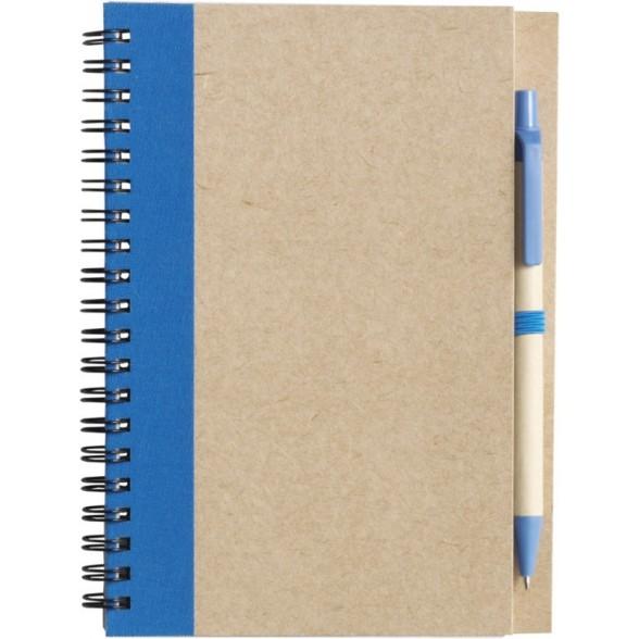 Libreta A5 y Boligrafo de Carton Reciclado / Libretas Personalizadas