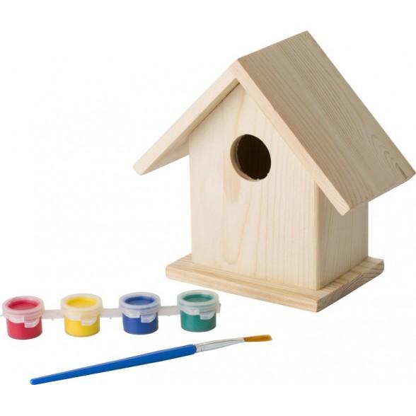 Caja de pajaros para pintar