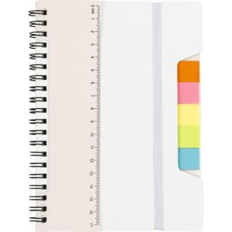 Libreta A5 con regla y notas adhesivas / Libretas Personalizadas