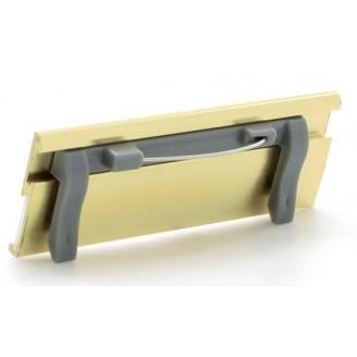 Identificador aluminio plata de publicidad / Identificadores Personales