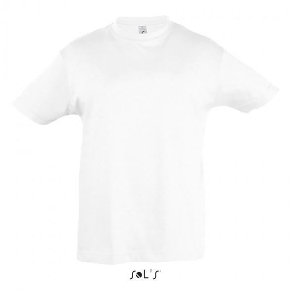Camisetas personalizadas Blancas niño Regent / Camisetas publicitarias