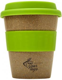 Vaso con tapa de bambú 350 ml / Vasos de cafe para llevar personalizados