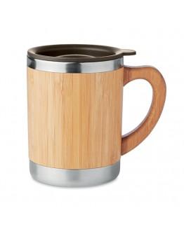 Taza termo 300 ml carcasa Bambú / Tazas termo personalizadas