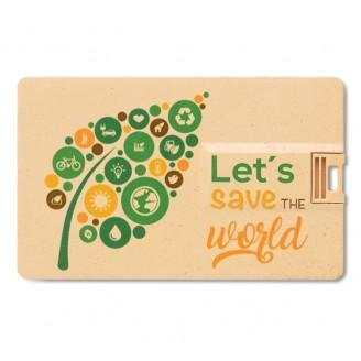 Memoria tarjeta USB de PP y paja