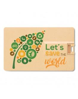 Memoria tarjeta USB de PP y paja / Tarjetas USB Personalizadas