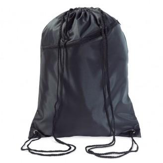 Mochila de cuerdas con bolsillo grande