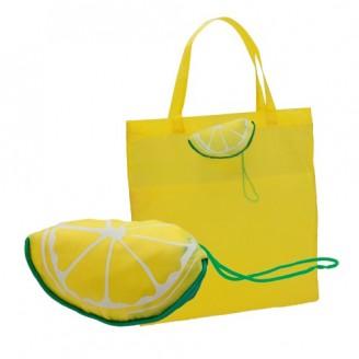 Bolsa Plegable Velia. Forma de Limón o Sandía