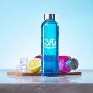 Botella agua cristal 500 ml personalizada / Bidones Personalizados